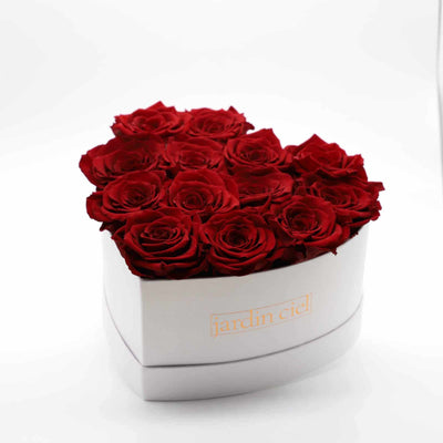 Infinity Heart Rosebox | Royal Red | Gr. L - Jardin Ciel GmbH