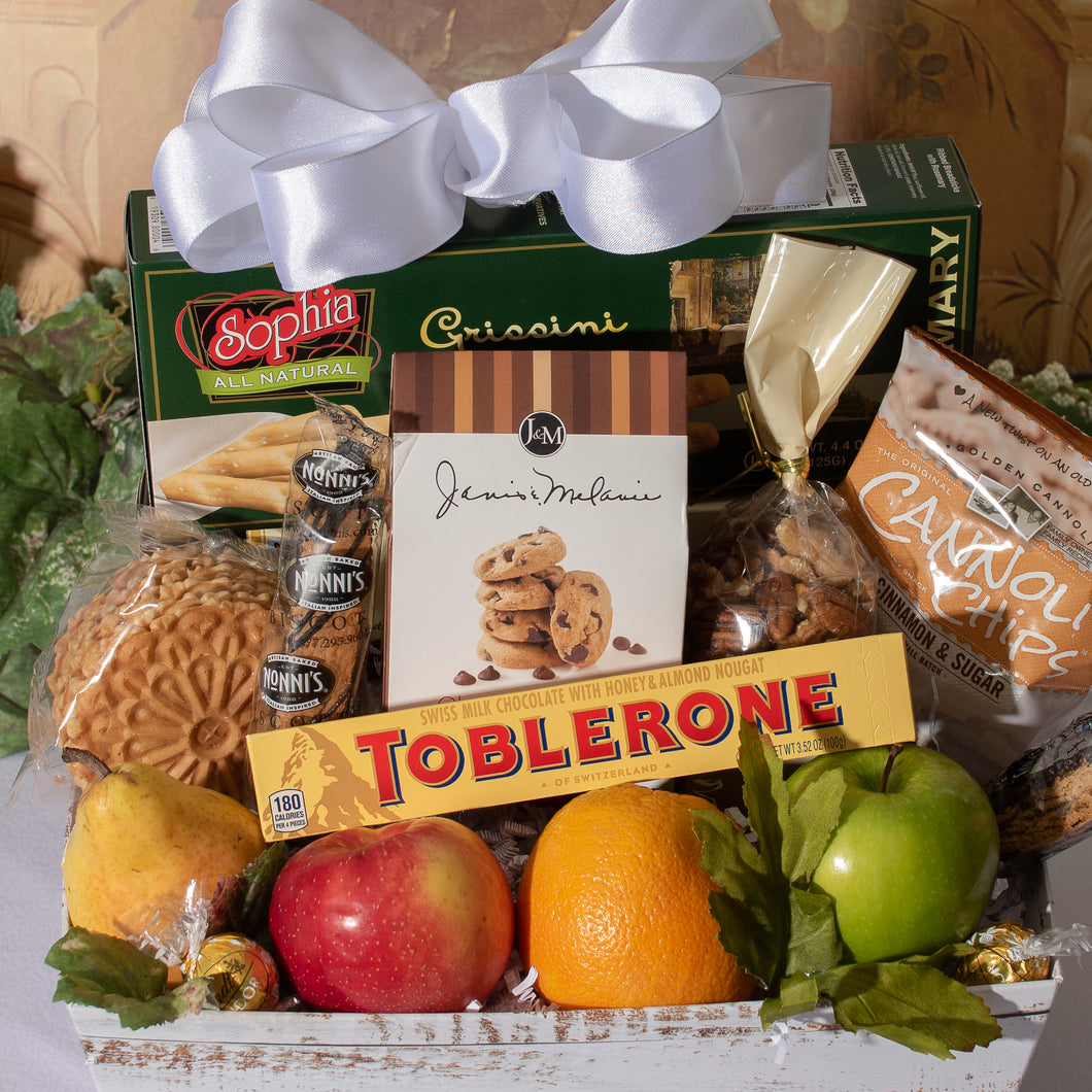 Delightful Assortment Fruit and Gourmet Gift Basket