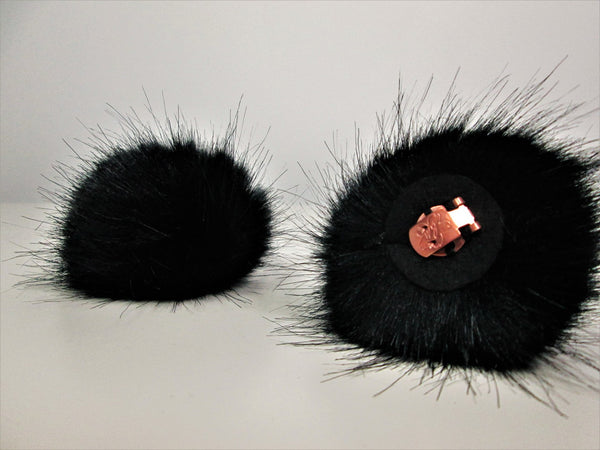 Pompoms - Fake fur with shoe clips - Small 6 cm