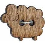 Wooden Sheep buttons