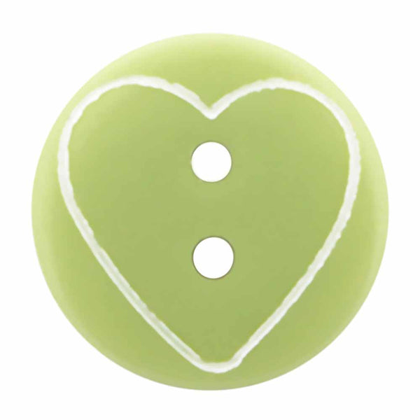Green hearts buttons