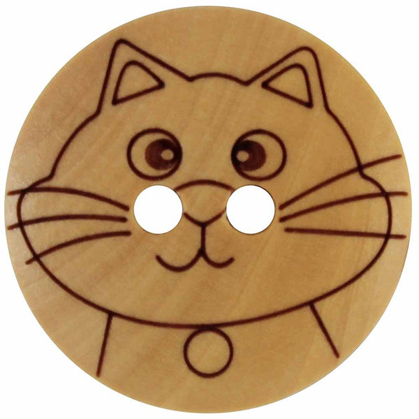 Cat Wood Buttons
