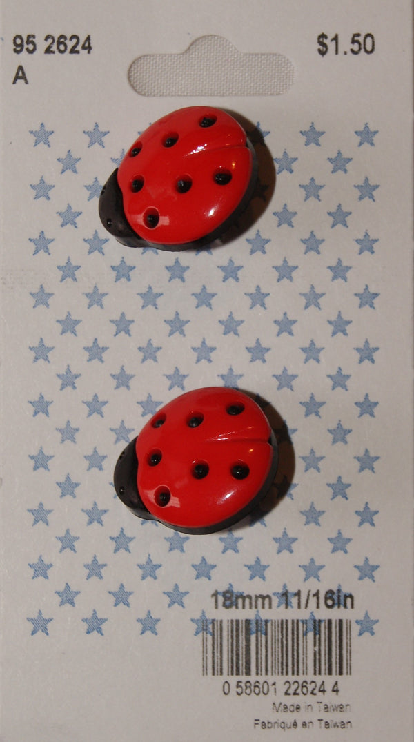 Buttons - Cirque - Lady Bug