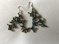 Green/Purple Earrings