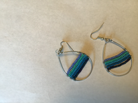 Blue Lines Earrings