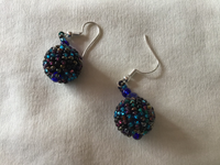 Blue/Turquoise Ball Earrings