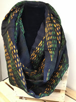Black/Green/Yellow Infinity Scarf