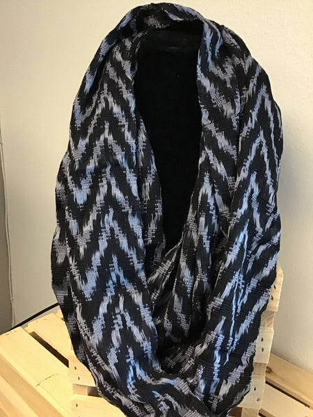 Black/Gray Infinity Scarf