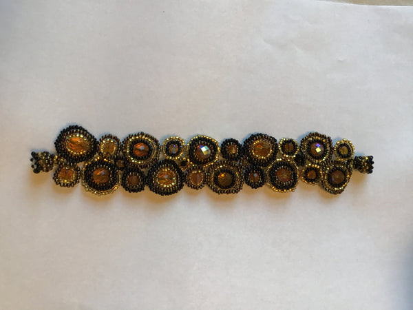Gold/Black Magnetic Bracelet