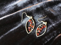 Red Oval Drops Earrings