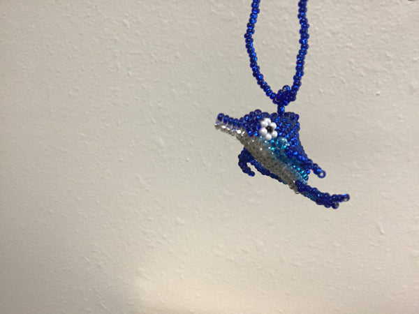 Beaded Dolphins Ornaments