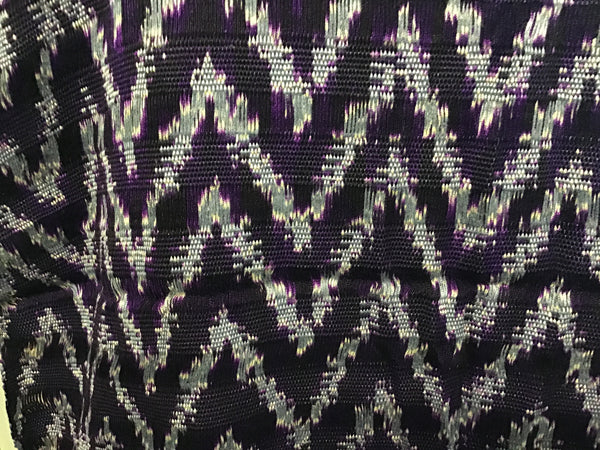 Dark Purple/Gray Zig Zag Shawl