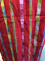 Red Stripes Rayon Scarf