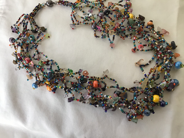 Multicolor Magnetic Beaded Necklace