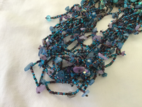 Turquoise/Purble/Blue Magnetic Beaded Necklace