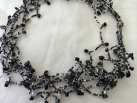 Black/White Magnetic Beaded Necklace