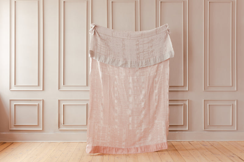 Linen - Throw - Dusty Pink Through To Grey