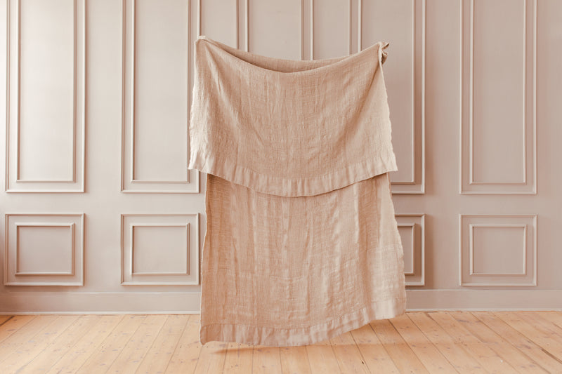 Linen - Throw - Natural on Natural