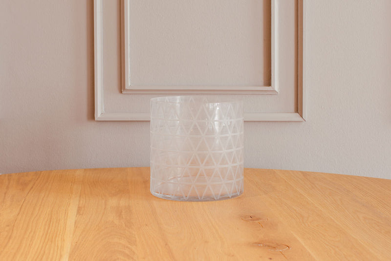Vase - Hurricane Criss Cross - White