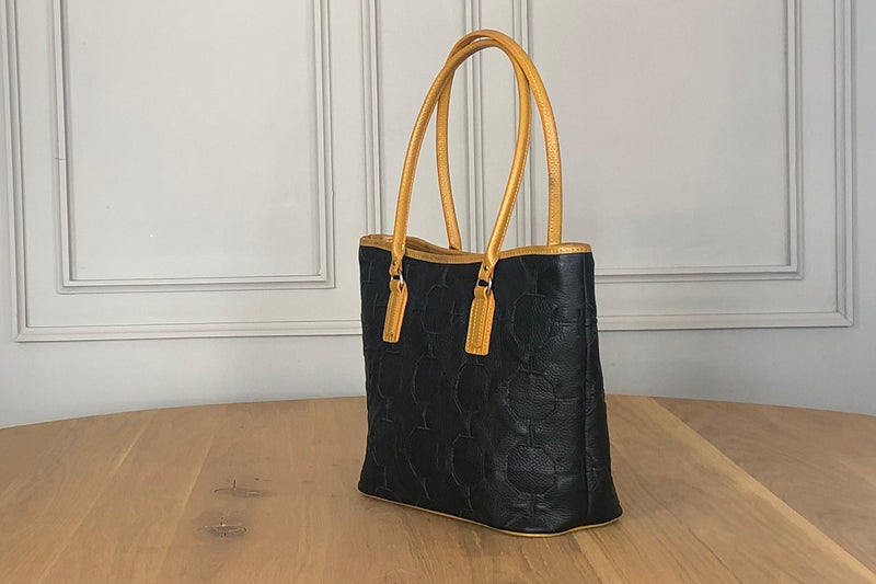 Bag - Fire and Hide Tote - Black and Yellow