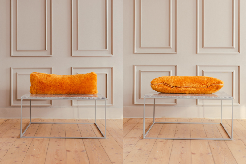 Pillow - Orange Wool - 250 x 700 mm