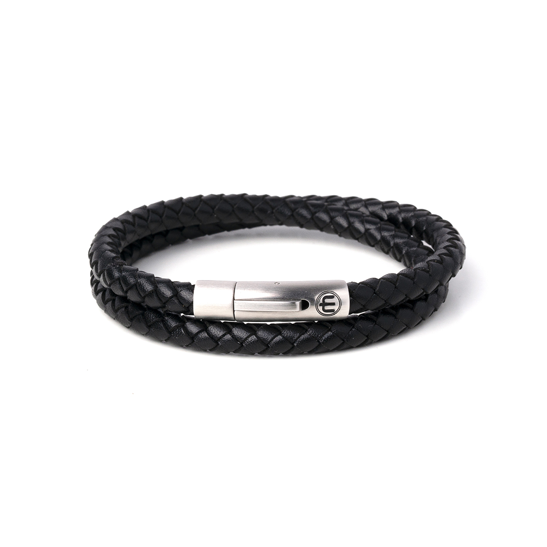 LEATHER – SILVER – BLACK WRAP 8mm