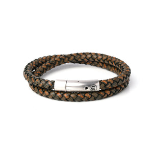 LEATHER – SILVER – BROWN WRAP 8mm