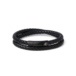 LEATHER – BLACK – BLACK WRAP 8mm