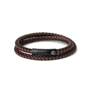LEATHER – BLACK – BROWN WRAP 8mm