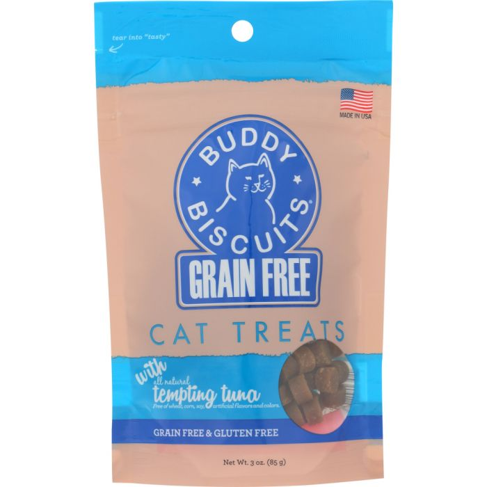BUDDY BISCUITS: Tempting Tuna Cat Treats, 3 oz