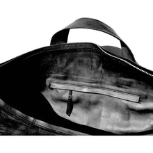 Load image into Gallery viewer, Viernes | Black Leather Duffel Bag - Sage & Barrel