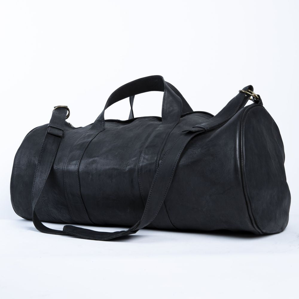 Viernes | Black Leather Duffel Bag - Sage & Barrel