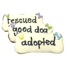 Load image into Gallery viewer, Adopted / Rescued / Good Dog Bones (case of 12)