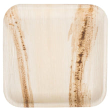 "Load image into Gallery viewer, Palm Leaf Plates Square 10"" Inch (Set of 25/50/100) - Sage & Barrel"
