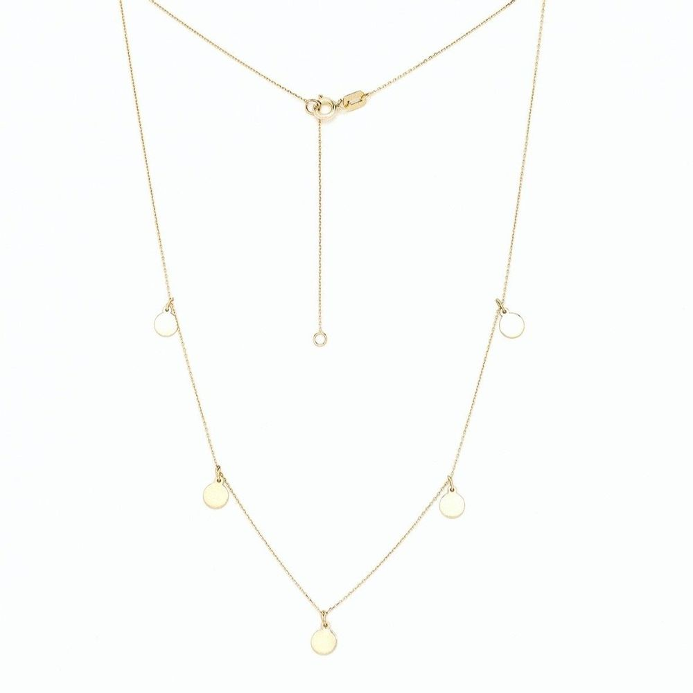 Solid Gold Circle Necklace - Sage & Barrel