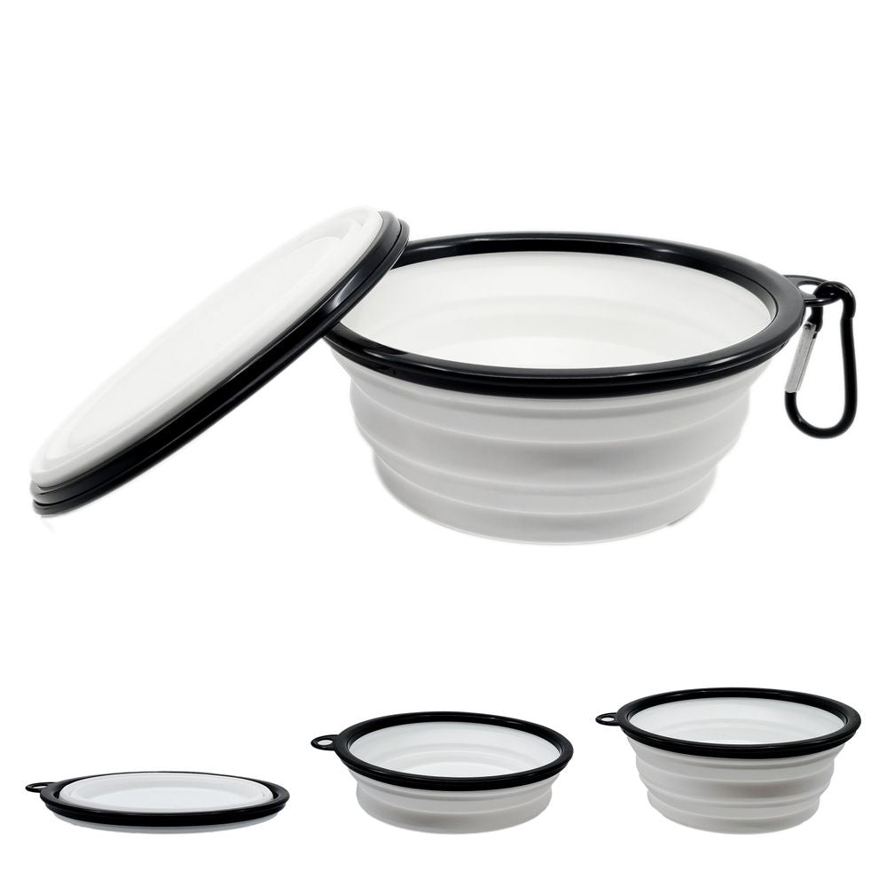 Luxe Pup® Collapsible Silicone Travel Bowl Set (33oz) - Sage & Barrel