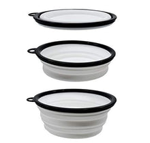 Load image into Gallery viewer, Luxe Pup® Collapsible Silicone Travel Bowl Set (33oz) - Sage & Barrel