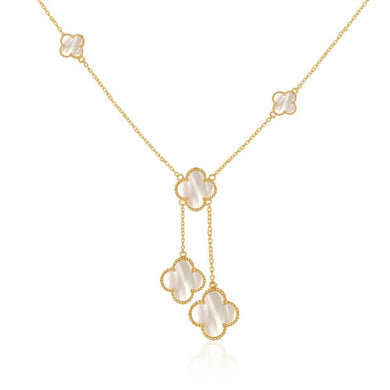 Quatrefoil Necklace (Pure Silver 22k Gold vermeil) - Sage & Barrel