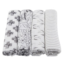 Load image into Gallery viewer, Monochrome Swaddle Four Pack - Sage & Barrel