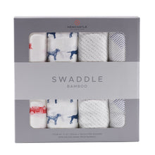 Load image into Gallery viewer, Fire Truck and Dalmatian Swaddle Four Pack - Sage & Barrel