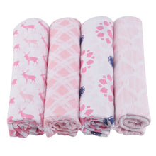 Load image into Gallery viewer, Pop of Pink Swaddle Four Pack - Sage & Barrel