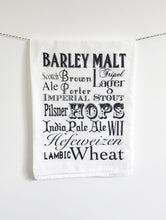 Load image into Gallery viewer, Beer Words Cotton Kitchen Towel - Sage & Barrel