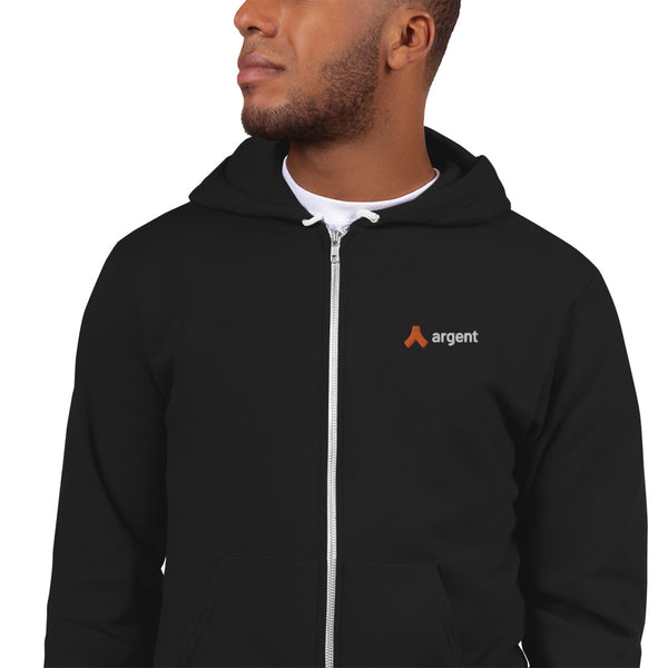 American Apparel x Argent Embroidered Zipped Hoodie