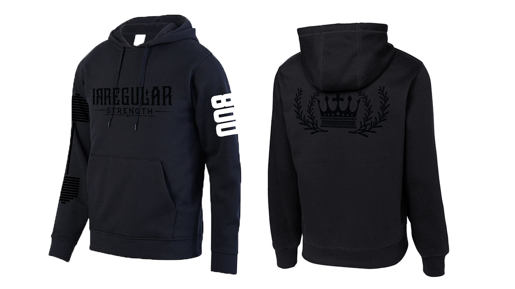 THE 800 LB HOODIE - BLACK ON BLACK (some sizes on backorder)