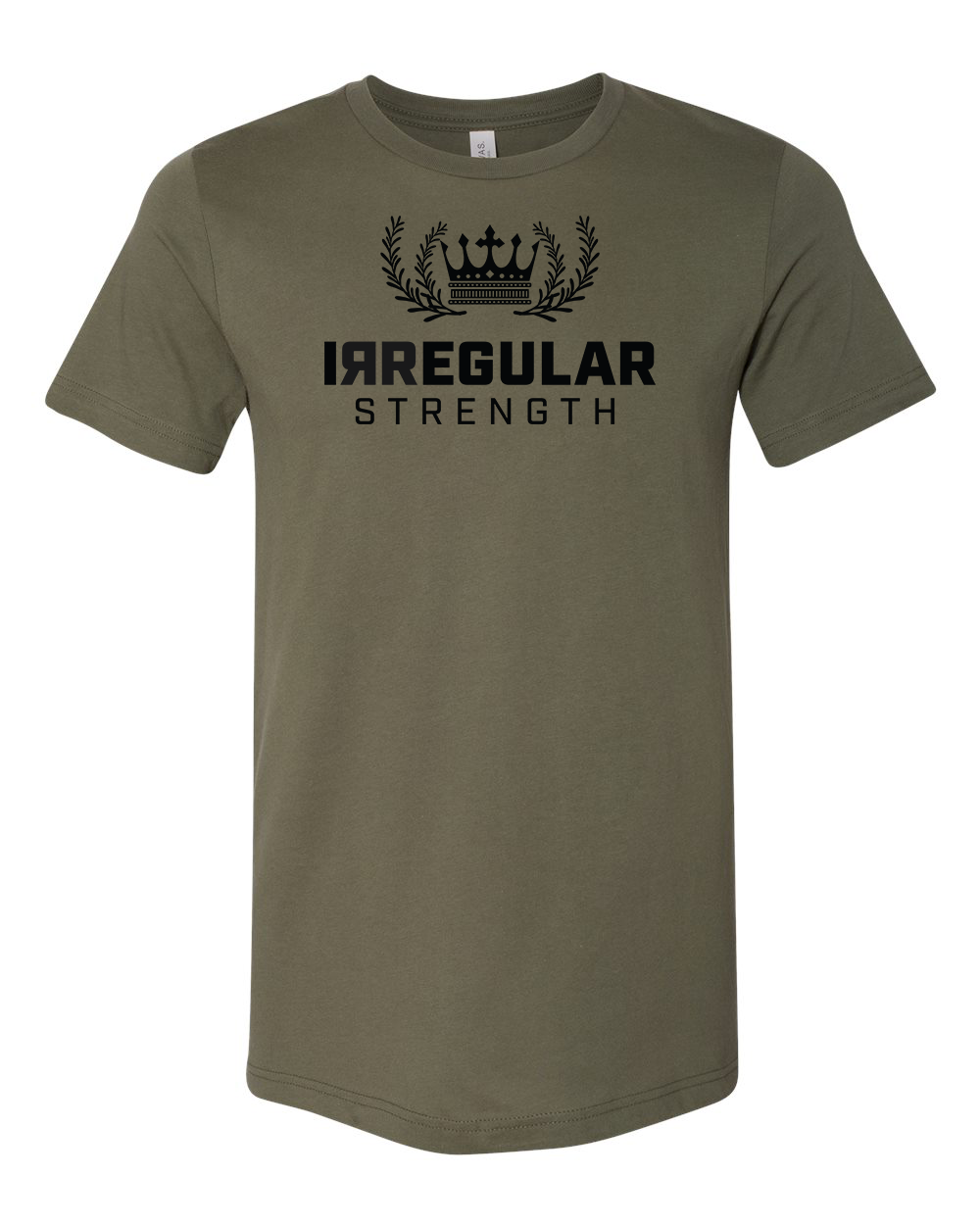 IRREGULAR STRENGTH CROWN TEE - ARMY GREEN *PREORDER*