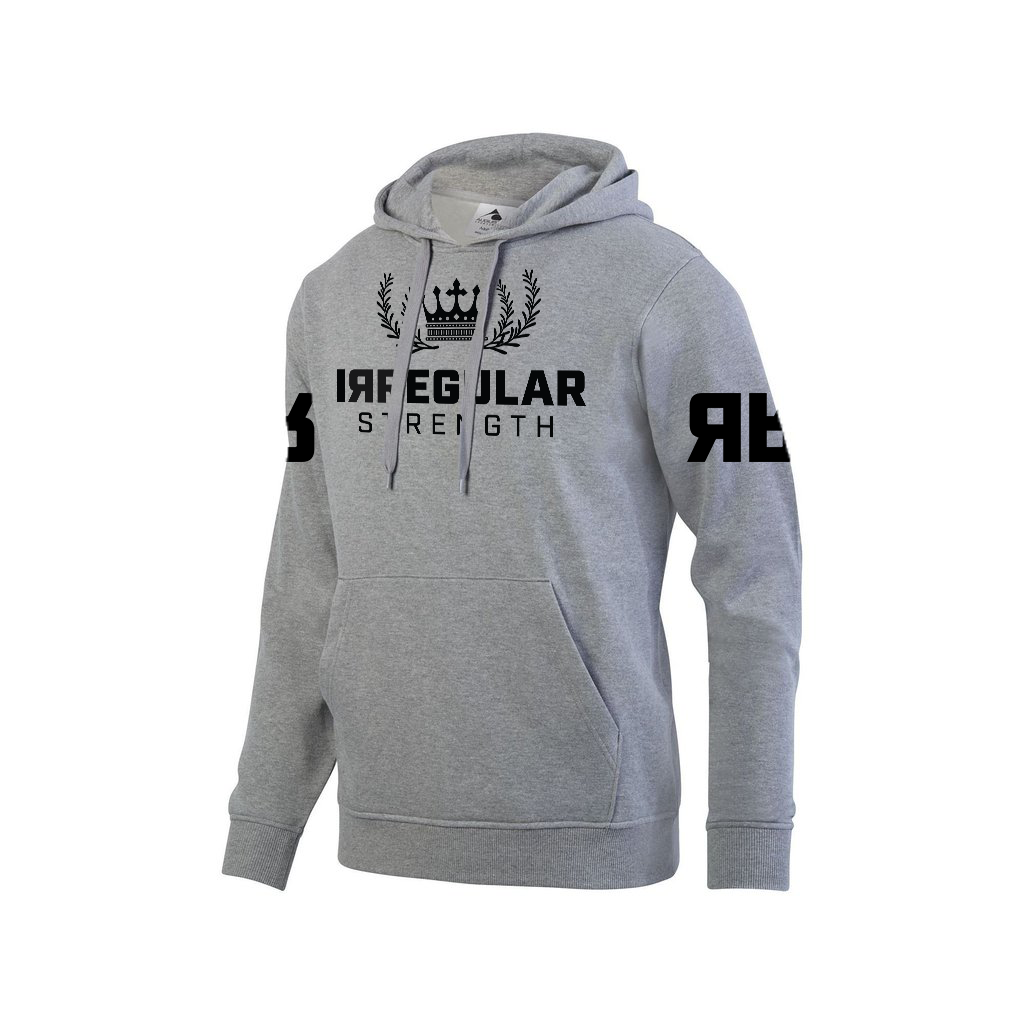 IRREGULAR STRENGTH KING OF THE BENCH HOODIE - GREY (some sizes on backorder)