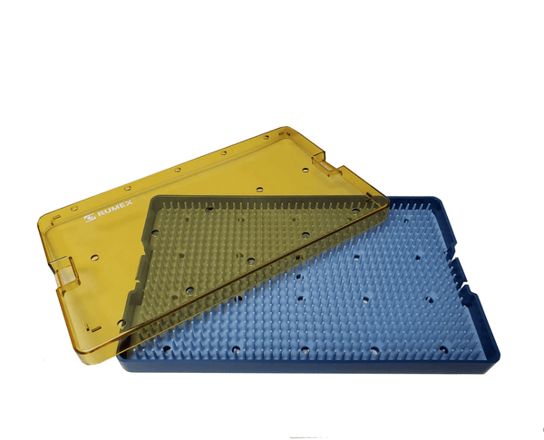 044R 18-304 Plastic Sterilizing Tray With Silicone Finger Mat, Extra Large, 254.00 x 152.00 x 19.00 mm