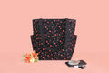 Shoulder Bag (Side Pocket) – Black Blossom