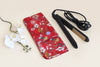 Curling and Flat Iron Cover – Red Flowers
