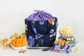 Drawstring Bag - Purple & Yellow Floral (Small)